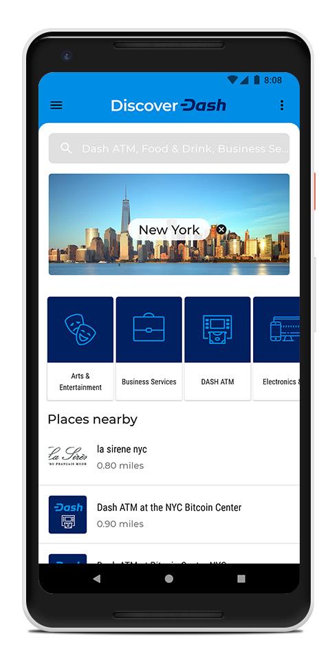 La app Discover Dash te ayuda a encontrar negocios que